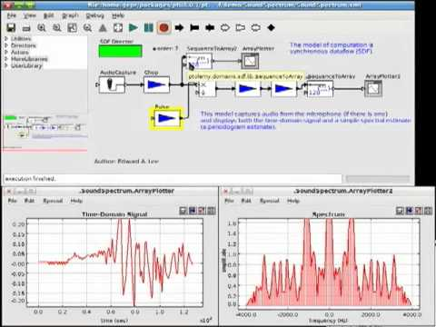 Audio Processing in Ptolemy II