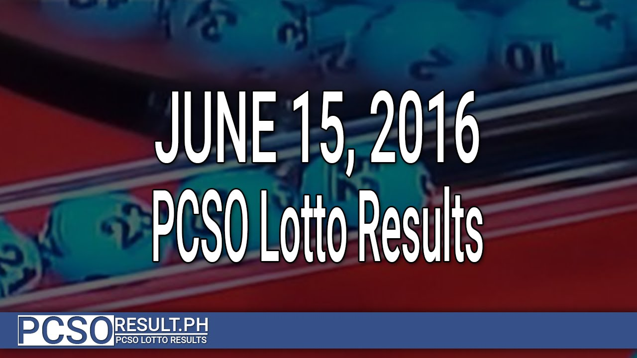 PCSO Lotto Results June 15, 2016 (6/55, 6/45, 4D, Swertres & EZ2) - YouTube