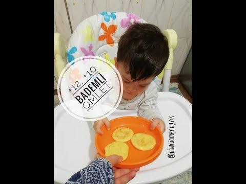 Bademli Omlet Sağlıklı Bebek Yemeği Tarifi - BEBEKLİ HAYAT