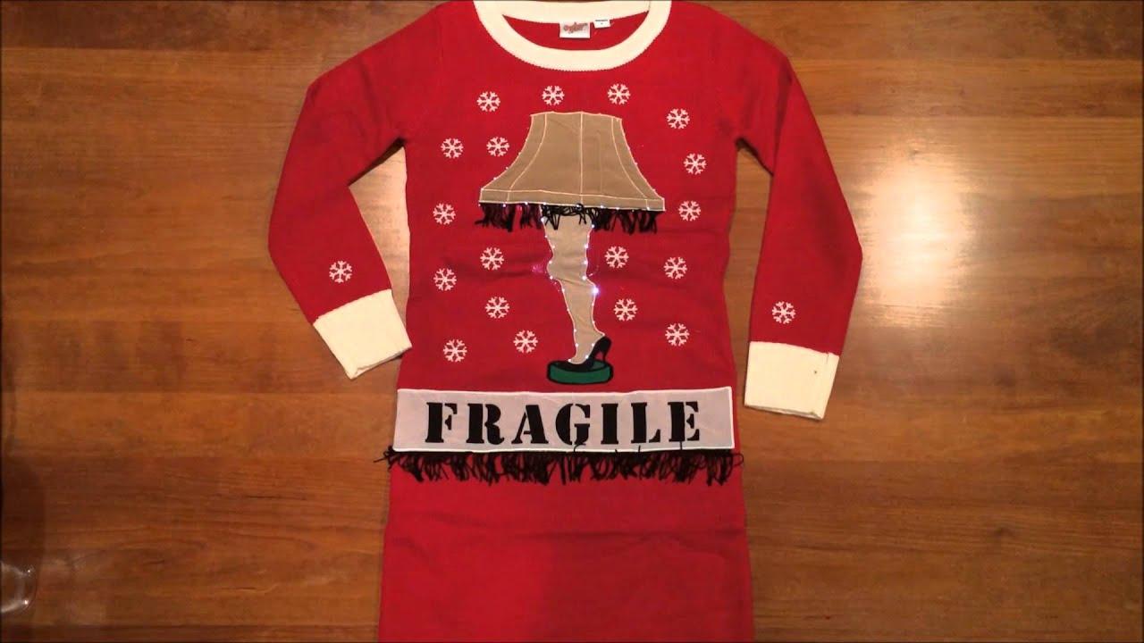 A Christmas Story' Lighted Leg Lamp Ugly Christmas Sweater Dress ...