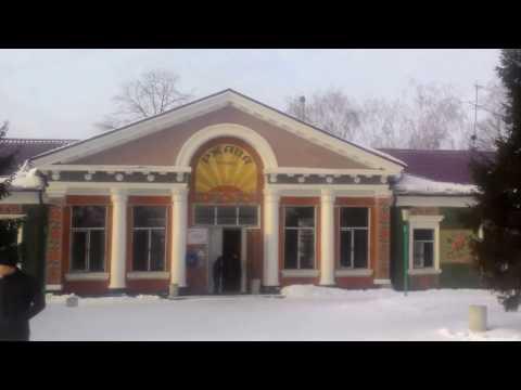 Станция Ржава. Пристень. Курская область. Прибытие скорого поезда Москва - Белгород.