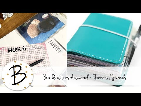 Your Questions Answered - Art, Journals, Planners, Project Life etc.