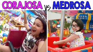 CORAJOSA VS MEDROSA 4 - No Parquinho do Shopping | Luluca