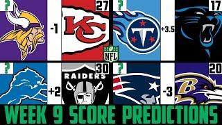 NFL Week 9 Score Predictions 2019 (NFL WEEK 9 PICKS AGAINST THE SPREAD 2019)
