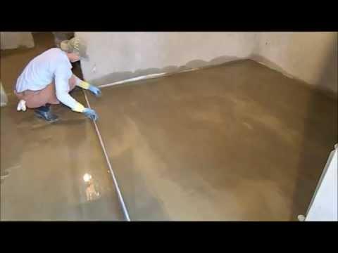 видео: Чистовая  цементно-песчаная  стяжка.