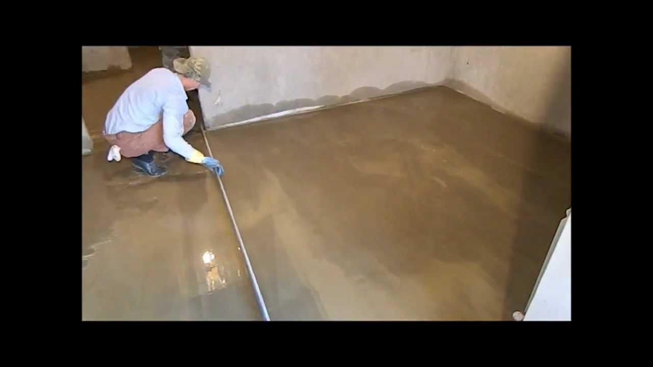 Чистовая  цементно-песчаная  стяжка.