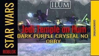 Roblox star wars jedi temple on Ilum dark purple with no obby/parkour