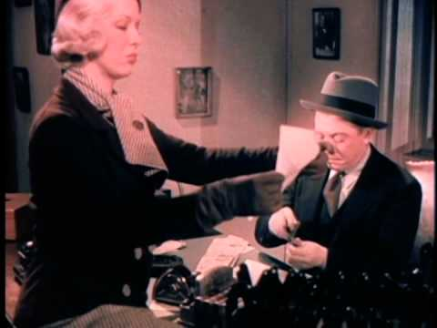 12 seconds of Glenda Farrell &  Frank McHugh in Mystery of the Wax Museum