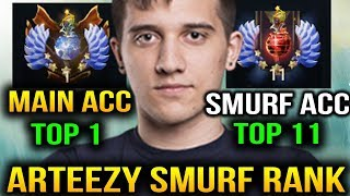 Arteezy Smurf New Rank Adventure [2 Game] Dota 2 7.07c