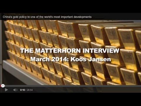 "Koos Jansen - ""China's gold policy Is one of the world's most important developments"""