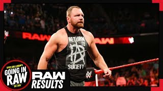 DEAN AMBROSE RETURNS JACKED! WWE Raw Full Results & Review 8/13/18! Going In Raw Podcast