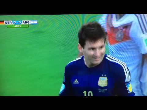 Lionel  messi miss goal FIFA World Cup final Arg vs Ger