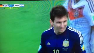 Lionel messi miss goal FIFA World Cup final Arg vs Ger