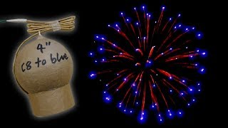 100Mm Selfmade Golden Wave To Blue Kugelbombe 4 Inch Homemade Firework Shell Hd