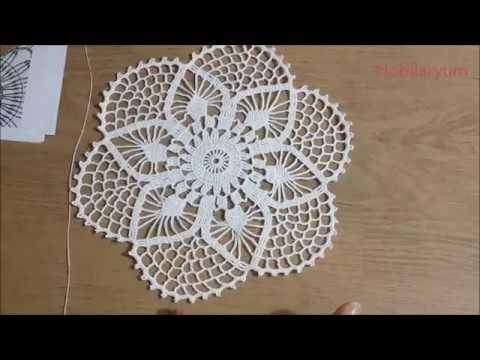 Ceyizlik Tigisi Yuvarlak Dantel Yapimi Crochet Part 1