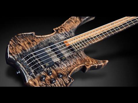 Warwick Custom Shop Masterbuilt - Vampyre 5-String Bleached Nirvana Black  HP #16-3205 - YouTube