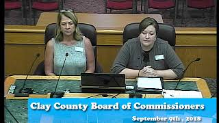 B180904A -09/04/18 - Clay County MN Board of Commissioners