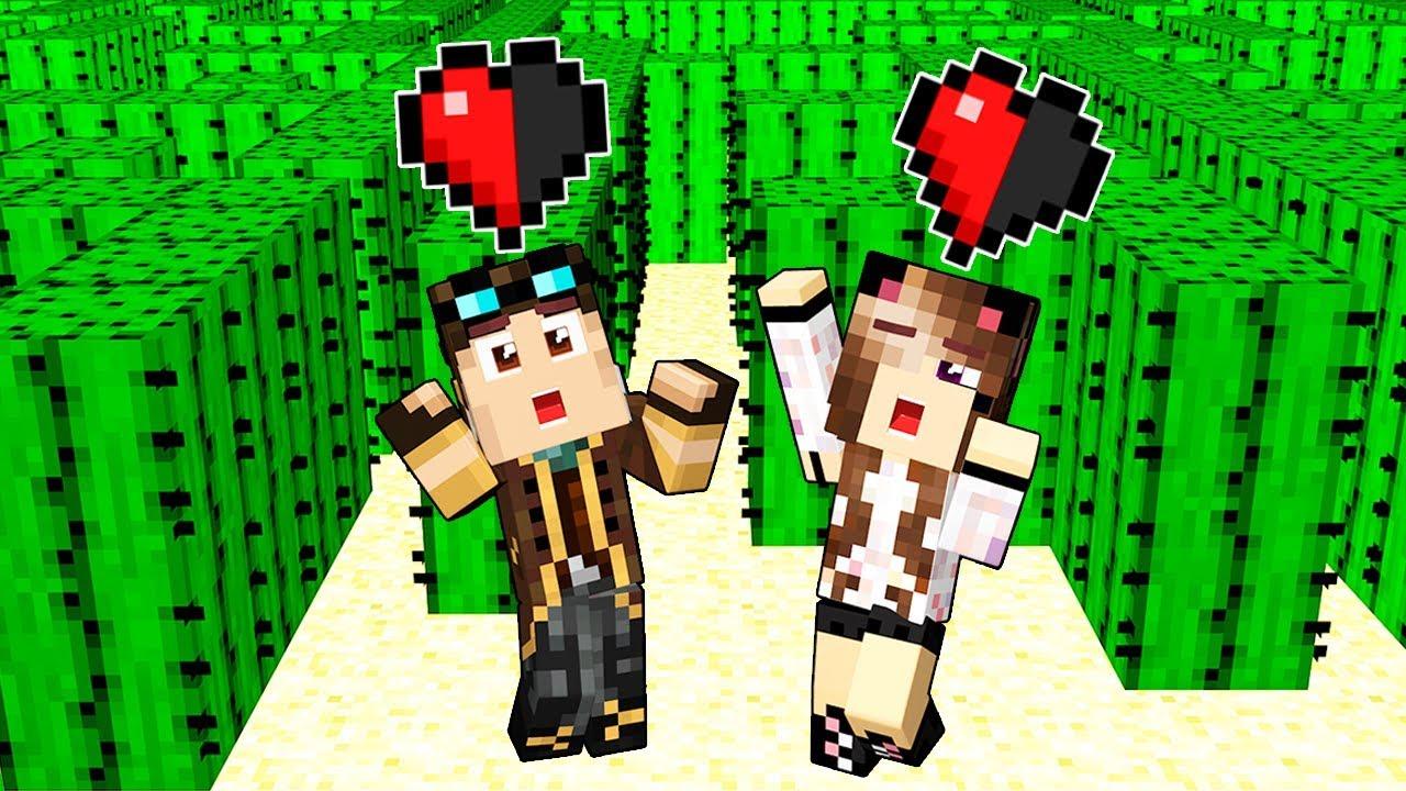 Scappiamo Dal Labirinto Di Cactus Con Mezzo Cuore Su Minecraft Youtube