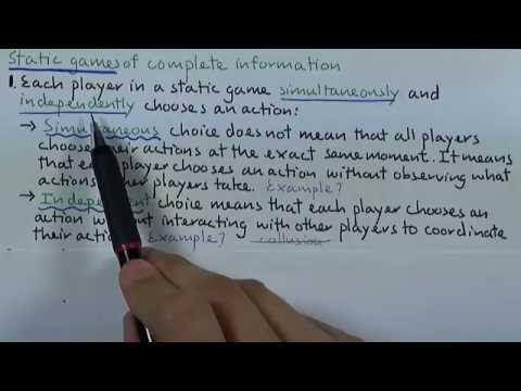 ทฤษฎีเกมเบื้องต้น (GAME THEORY) 04 : Static Game of Complete Information (SGCI)