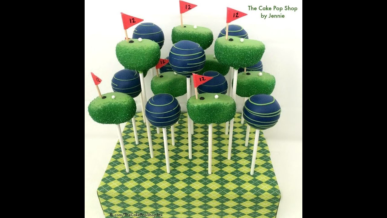 how to make golf course cake pops youtube