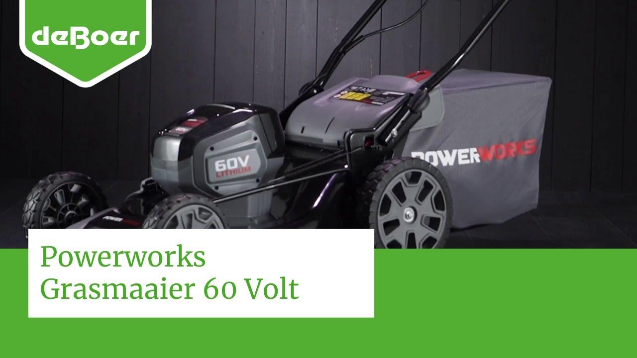 Powerworks Grasmaaier 60 Volt Youtube