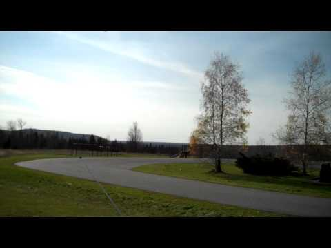 RC Plane Dead Stick Landing #1 - Alexander Maine Elementary School - November 2010