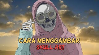 Drawing Skull art #2| Medibang paint