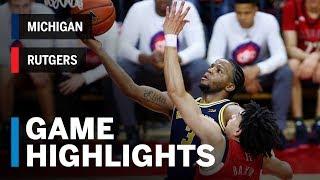 Highlights: Michigan at Rutgers | Big Ten Basketball