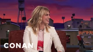 January Jones' Intense Dream About Dwayne Johnson  - CONAN on TBS
