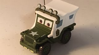 Disney Cars Sarge With Roof Lights Diecast Review