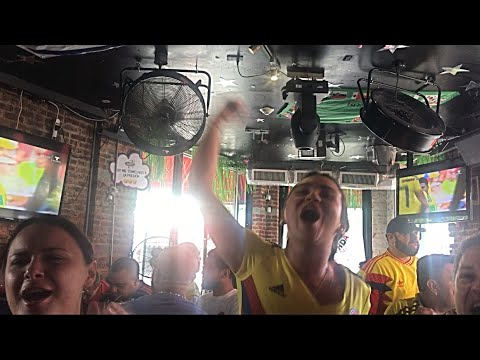 Colombia Vs Japan 1-2 Reaction, Kagawa Penalty Reaction,Sanchez Red Card, Colombian Fans Reaction