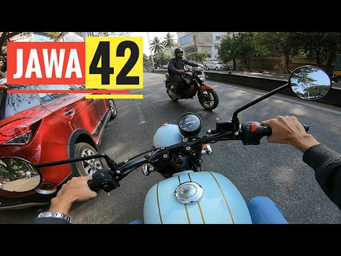 JAWA 42 Test Ride RAW Video With Exhaust Sound | GoPro Hero7 Black | Rishabh Chatterjee Motovlog