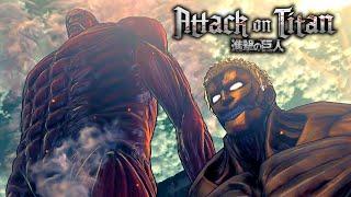 Repeat youtube video Eren vs The Colossal Titan & Armored Titan Secret Boss Battle | Attack on Titan: Wings of Freedom