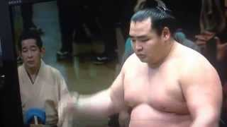 11日目は波乱。白鵬は11連勝。 日馬富士が碧山にはたきこみで、鶴竜...