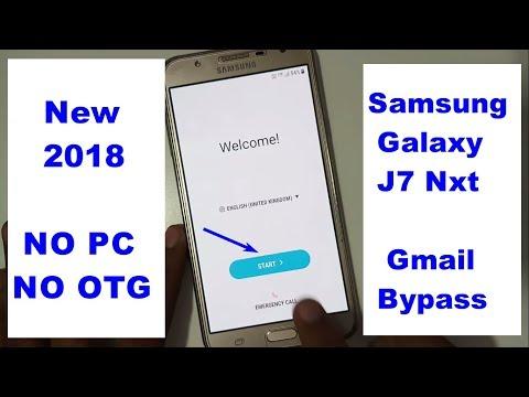 Samsung J7 Nxt 7 0 Google Account Bypass (FRP 7 0 Nougat) 1000