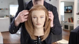 Long Layered Haircut Tutorial For Fine Hair | MATT BECK VLOG 35