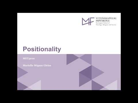 7 Positionality