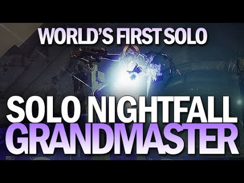 World's First Solo Grandmaster Nightfall (The Insight Terminus) [Destiny 2]