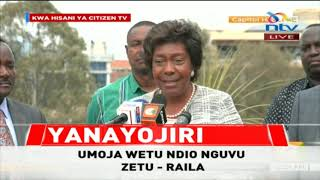 """""""We will not be cowed…we will not"""" Kitui Governor Charity Ngilu"""