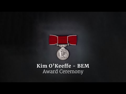 Presentation of the British Empire Medal to Kim O'Keeffe