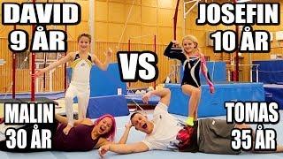Gymnastik Challenge 9åring vs 10åring