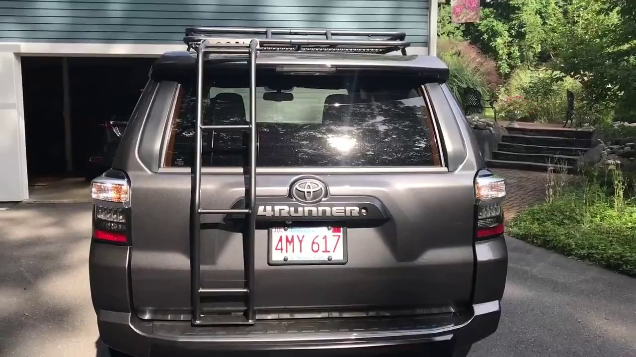 Gobi Stealth Roof Rack on 4runner TRD Pro - YouTube