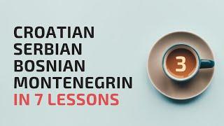 Lesson 2 (part 2) Croatian, Serbian, Bosnian, Montenegrin in 7 lessons