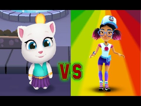 Talking Tom Gold Run VS Subway Surfers Сан Франциско Прохождение 2