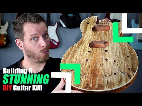 Building a LES PAUL Guitar kit! - This Thing is Beautiful!