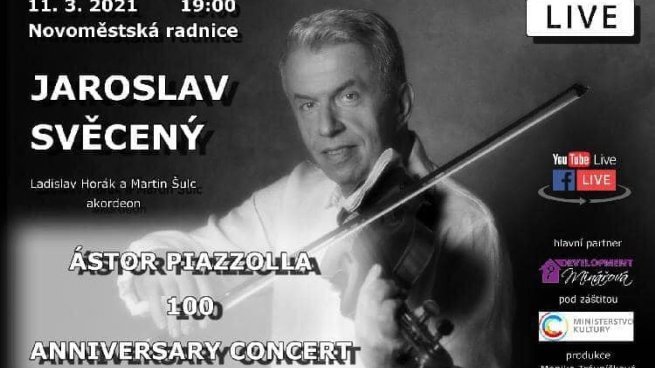 Video Jaroslav Svěcený: Ástora Piazzolla 100 Anniversary concert