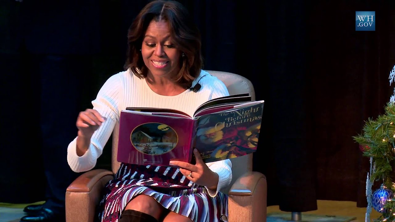 "First Lady Michelle Obama Reads ""Twas the Night Before ..."