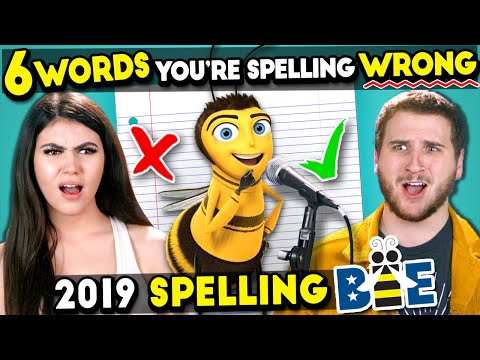 6 Really Hard Words You're Spelling Wrong (2019 Spelling Bee) *IMPOSSIBLE*