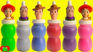 Toy Story 4 Woody, Buzz Lightyear, and Jessie Slime Surprises