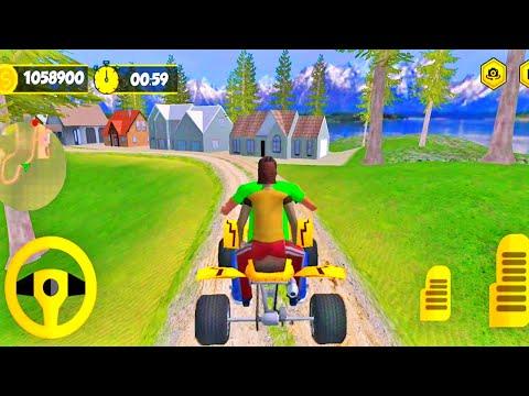 Mountain ATV Bike Taxi Hill Top Race Game - #4   ATV Bike Games   Mountain ATV Taxi Bike 3D  